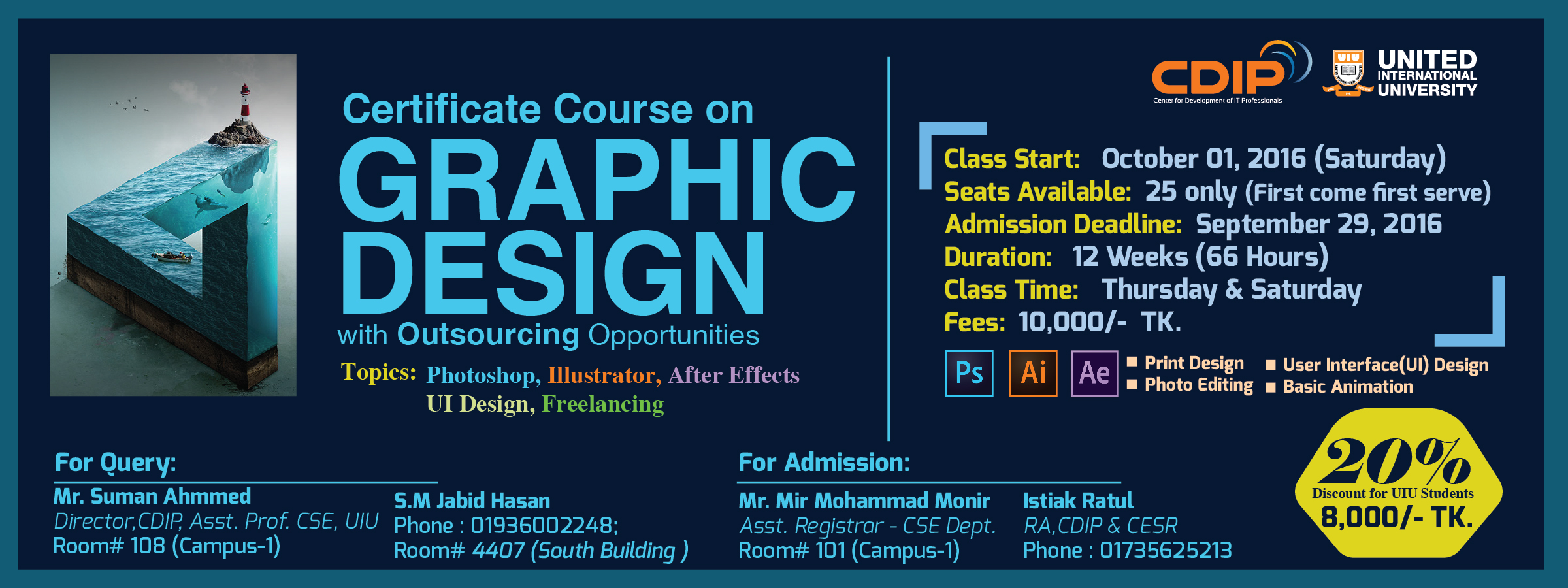 Certificate Course On Graphic Design With Outsourcing Opportunities