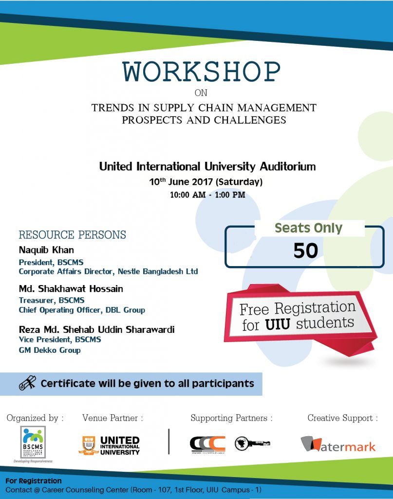 Workshop on 'Trends in Supply Chain Management: Prospects