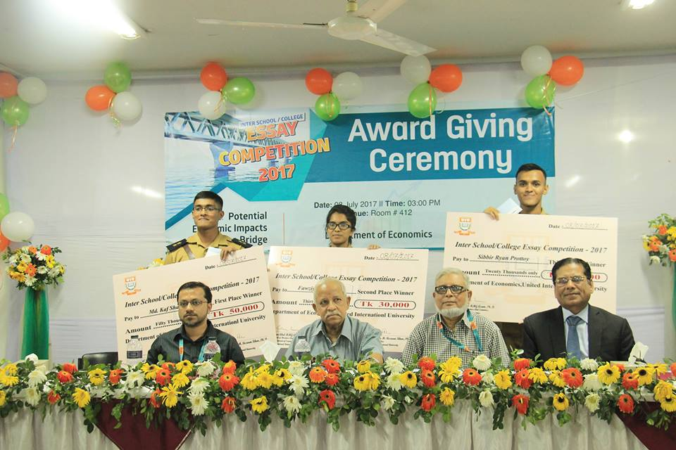 First Inter School/College Essay Competition at the National Level