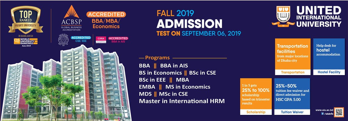 2nd Admission Test (Fall 2019)