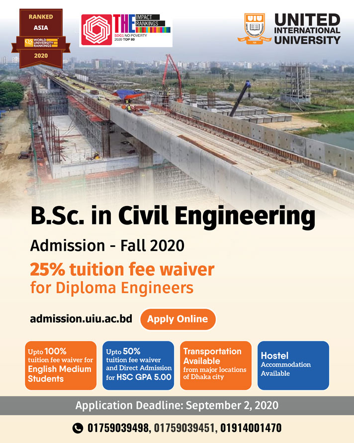 Bsc Civil Engineering Admission Fall 2020